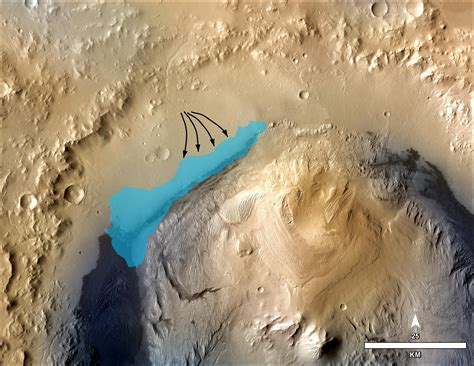 Possible Extent of Ancient Lake in Gale Crater, Mars | NASA