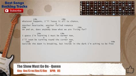 The Show Must Go On - Queen Guitar Backing Track with