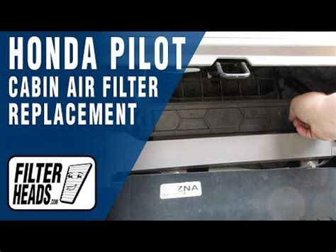 How to Replace Cabin Air Filter Honda Pilot - YouTube