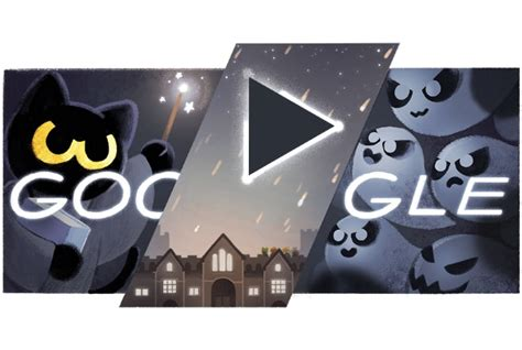 Today's ghostly Google doodle is a Harry Potter-inspired