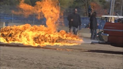 """30ft FLAMETHROWER exhaust on a couple """"hot"""" rods! - YouTube"""