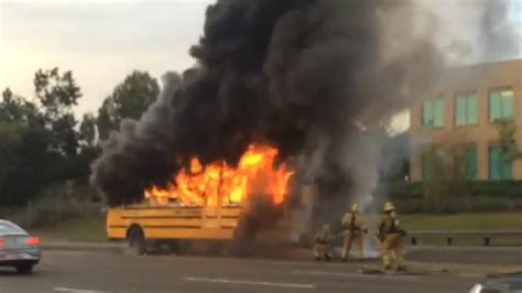 School Bus Carrying Students Goes Up in Flames on SoCal